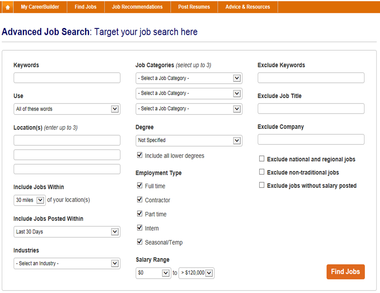 how do i refine my job search in addition to the advanced search options on careerbuilder you can use special keywords and characters to refine your search