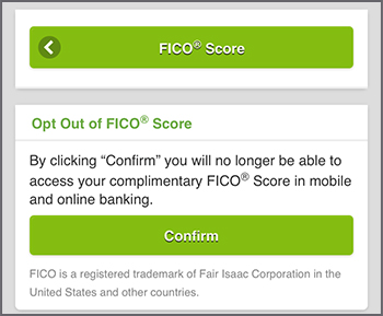 Opt Out of FICO Score page