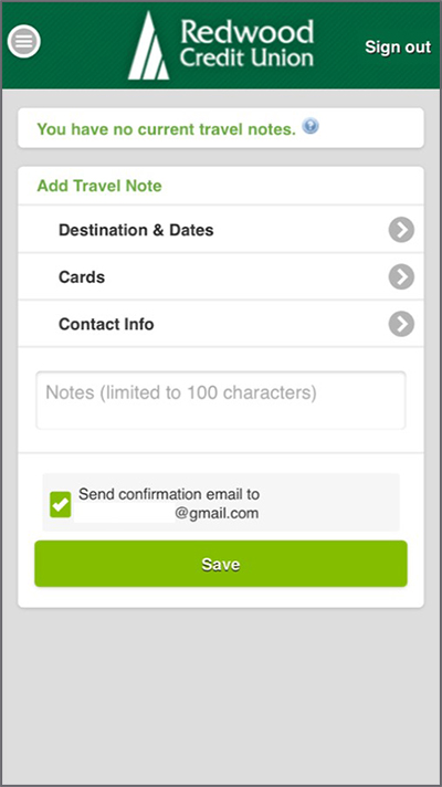 Add Travel Notes