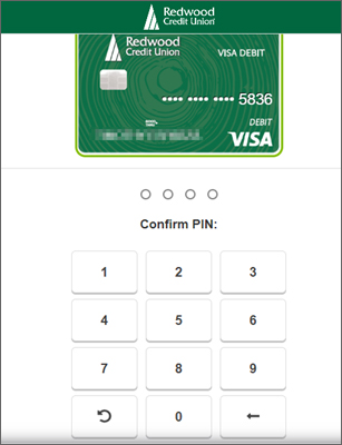 Enter PIN on keypad