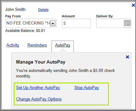 Manage Your AutoPay