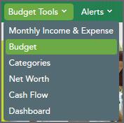 Budget Tools Menu