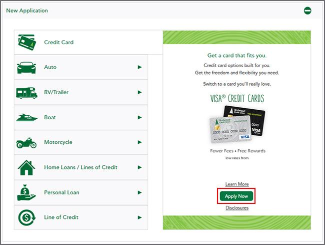 New Applications Credit Card