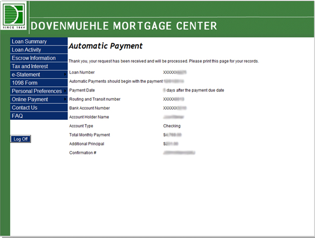 Image of Automatic Payment Submission Confirmation