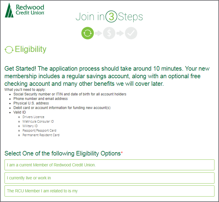 Eligibility First Step in Membership Process