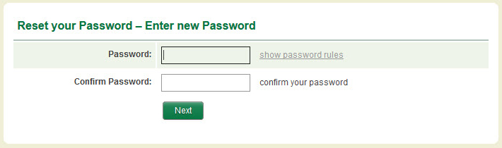 Image of Reset your Password