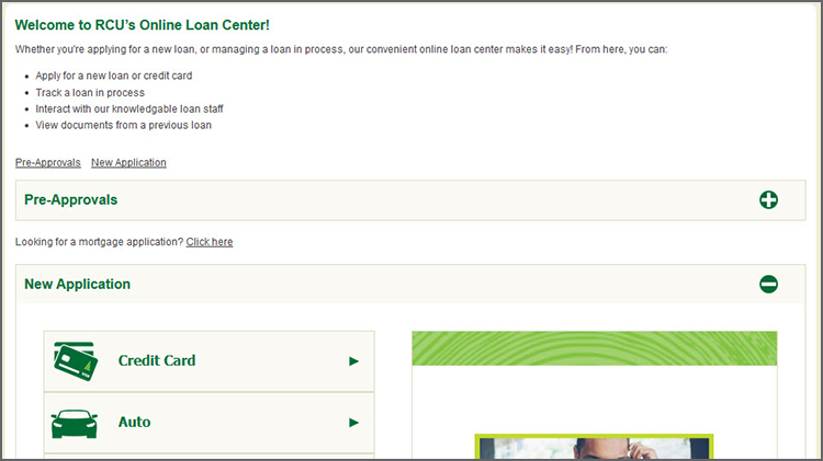 Online banking loans page