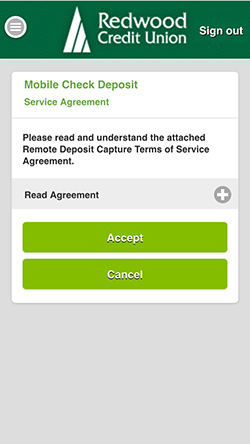 Mobile Check Deposit Service Agreement
