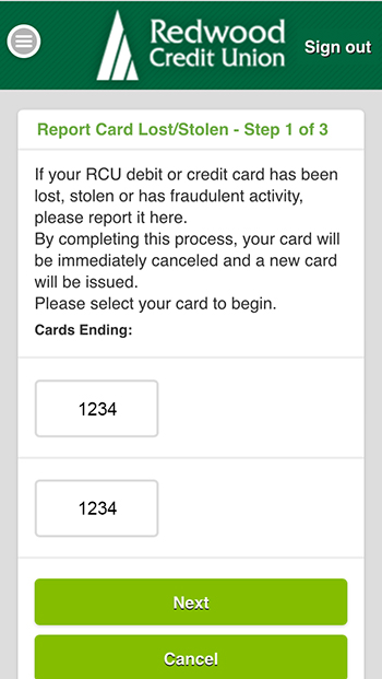 Report Card Lost/Stolen - Step 1 of 3