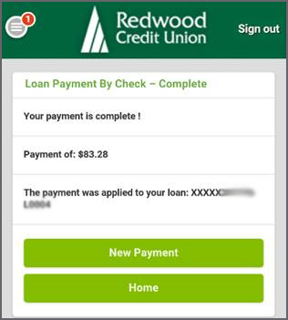 Loan Payment is Complete Message