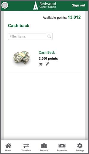 Select Cash Back