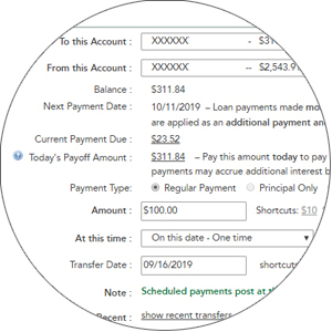 Make a Payment section