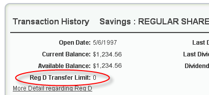 Reg D Transfer Limit