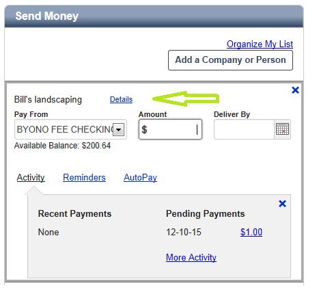 Send Money Remove Biller