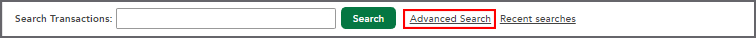Advanced Search options in Search Transactions