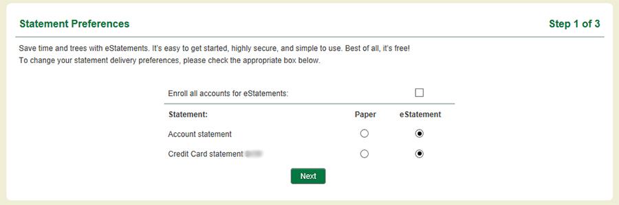 Statement Preferences Step 1