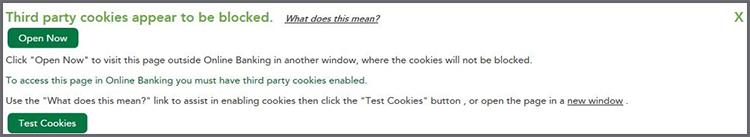 Third party cookies appear to be blocked.