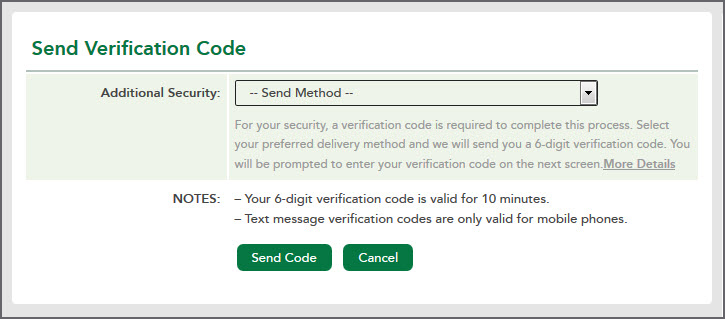 Send Verification Code