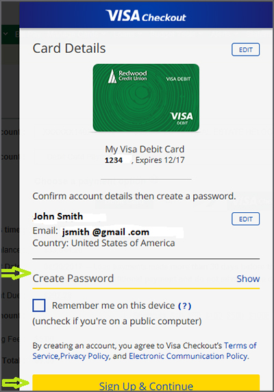 Card Detail add a password